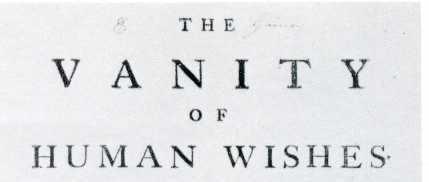 vanity of human wishes 2