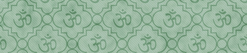 Green Aum Hindu Symbol Tile Pattern Repeat Background that is seamless and repeats