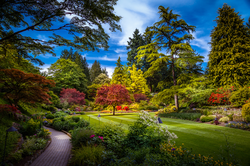 Butchart Gardens in Victoria, Vancouver Island, British Columbia, Canada